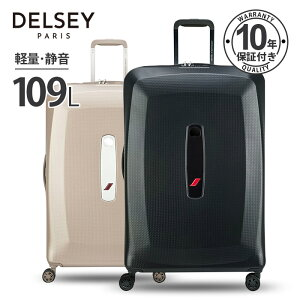 DELSEY デルセー スーツケース Lサイズ 大型 109L+10L 容量拡張 軽量 ハードスーツケース 重量チェッカー機能 AIR FRANCE PREMIUM 収納バック&ハンガー付き 7泊以上 キャリーケース 荷物収納 長期旅行