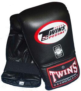 TWINS 本革製パンチンググローブ 黒 / 親指カット