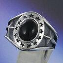 オニキス スター 星 シルバーアクセサリー メンズ シルバーリング 指輪 シルバー925 メンズアクセサリー プレゼントに…