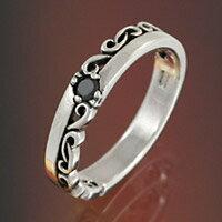 シルバーリング 指輪 ブラックジルコニア アラベスク メンズ レディース ユニセックス ジュエリー アクセサリー メンズジュエリー シルバーアクセ ペアリングに大人気 送料無料