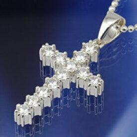 ジルコニア クロス 十字架 ユニセックス シルバーアクセサリー メンズ レディース シルバーネックレス ペンダント シルバーチェーン プレゼントに人気
