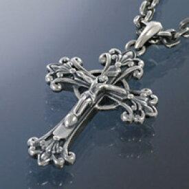 キリスト ジルコニア リバーシブル クロス 十字架 メンズ シルバーネックレス シルバーチェーン シルバー925 メンズアクセサリー 送料無料