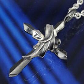 シルバー アクセサリー シルバーペンダント シルバー925 クロス メンズ ジュエリー ペンダントトップ ネックレス 天使と悪魔 羽 ダーク プレゼント
