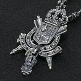 王家の紋章 ブラックジルコニア シルバーアクセサリー メンズ シルバーネックレス シルバーチェーン シルバー925 メンズアクセサリー 送料無料