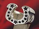 ホースシューリング 馬蹄 スター 星 メンズ シルバーリング シルバーアクセサリー 指輪 シルバー925 メンズアクセサリー 送料無料