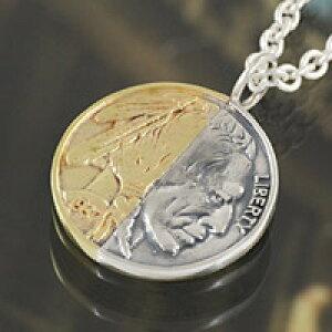 全商品ポイント10倍!!コイン 真鍮 シルバーアクセサリー メンズ レディース ユニセックス シルバーペンダント ネックレス シルバー925