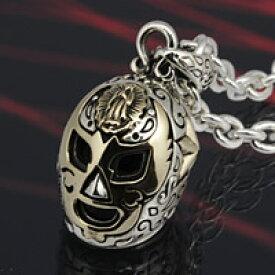 マスク 覆面 プロレス マリア 星 スター メキシコ メキシカン ルチャリブレ メンズ 男性用 シルバーネックレス シルバーチェーン シルバー925 真鍮 シルバーアクセサリー