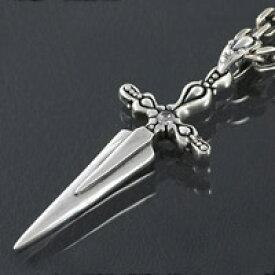 クロス 十字架 ダガー 短剣 シルバーアクセサリー メンズ シルバーネックレス ペンダント シルバーチェーン シルバー925 メンズアクセサリー 送料無料