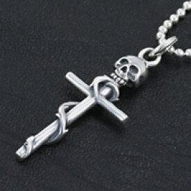 シルバー アクセサリー シルバーペンダント シルバー925 クロス スカルヘッド メンズ アクセサリー ネックレス 十字架 ドクロ 骸骨 プレゼント