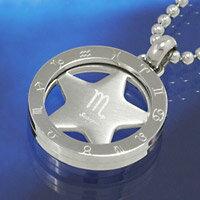 蠍座 星座 ステンレス ネックレス チェーン ペンダント ユニセックス メンズ アクセサリー プレゼントに人気