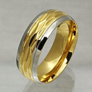 ゴールドカラー シンプル ステンレスリング 指輪 メンズ レディース 男性用 女性用 男女兼用 ステンレスアクセサリー 金属アレルギー対応(出難い) 大きいサイズ ギフトに人気 送料無料