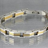 シンプル ステンレスブレスレット ゴールドカラー メンズ レディース アクセサリー 金属アレルギー対応(出難い) ステンレスアクセサリー 送料無料