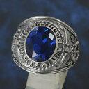 シルバーリング silver925 指輪 カレッジリング ブルースピネル メンズ レディース シルバー925 メンズアクセ シルバ…