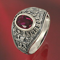 ルビー カレッジリング シルバーリング 指輪 シルバー925 silver925 メンズアクセサリー レディースアクセサリー シルバーアクセサリー 男性用 女性用 男女兼用 送料無料