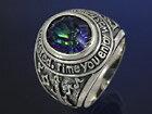 ミスティッククォーツ カレッジリング メンズ レディース シルバーリング 指輪 シルバー925 メンズアクセサリー プレゼントに人気 送料無料