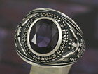 カレッジリング アレキサンドライト メンズ レディース シルバーリング 指輪 シルバーアクセ メンズアクセ プレゼントに人気 送料無料
