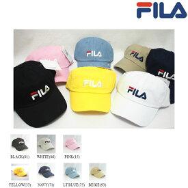 FILA(フィラ) 185713520 ロゴキャップ FLS LINEAR LOGO LOW CAP 男女兼用 UNISEX 2018春夏 ブラック ホワイト ピンク ネイビー イエロー ベージュ ライトブルー 全7色