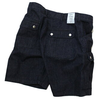 GINGAMP(条纹布)TOOL SHORTS Denim工具短裤