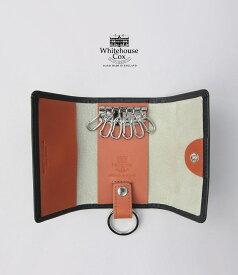 【ポイント11倍】ホワイトハウスコックス ブラック/ブラウン/タン ダービーコレクション キーケースウィズリング WhitehouseCox S9692 KEYCASE WITH RING DERBY