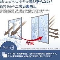 窓ガラスフィルム飛散防止