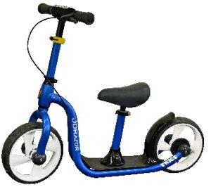 ★全品P5倍★5日限定★ジェイディージャパン  トレーニングバイク キックバイク キックスクーターに変身 ブレーキ付   TC-12-J-BL【カラー:ブルー】 SSL-JDJ
