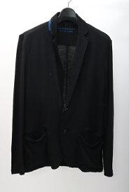 【1月18日に値下げ】バーバリーブラックレーベルBURBERRY BLACK LABEL 羊毛ニットテーラードジャケット カーディガン【MKNA55902】【ブラック】【2】【中古】【2点以上同時購入で送料無料】【DM190427】