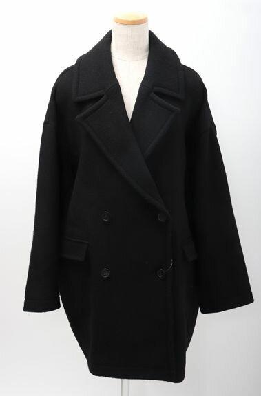 【10月6日に値下げ】AP STUDIO(アパルトモンL'Appartement) 2017AW Dobby Cloth Coatドビークロス コクーンコート【LJKA47127】【ブラック】【フリー】【中古】【2点以上同時購入で送料無料】【DM180324】