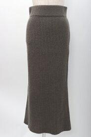 【11月9日に値下げ】ドゥーズィエム クラスDeuxieme Classe 2018AW CARIAGGI Knit カシミヤニットスカート【LSKA53732】【フリー】【カーキ(グレーに近いお色味)】0【2点以上同時購入で送料無料】【DM190206】
