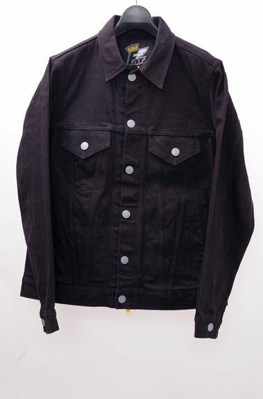 【11月10日に値下げ】FATエフエーティー DENJADEX ブラックデニムGジャンジャケット【MJKA39533】【ブラック】【SKINNY】【中古】【2点以上同時購入で送料無料】【DM170125】