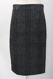 【9月12日に値下げ】ESCADAエスカーダ ラメツイードスカート【LSKA56850】【黒白】【36】【中古】【2点以上同時購入で送料無料】【DM200219】