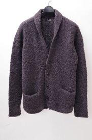 【10月5日に値下げ】threedotsスリードッツ ショールカラーニットジャケット【MKNA40254】【チャコールグレー】【M】【中古】【2点以上同時購入で送料無料】【DM170225】