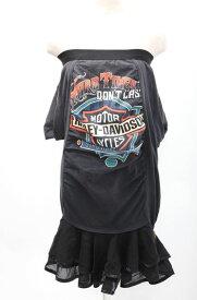 【9月7日に値下げ】H アッシュ ヴィンテージハーレーTシャツ リメイク ベアトップワンピース【LOPA47563】【ブラック】【】【中古】【2点以上同時購入で送料無料】【DM180421】