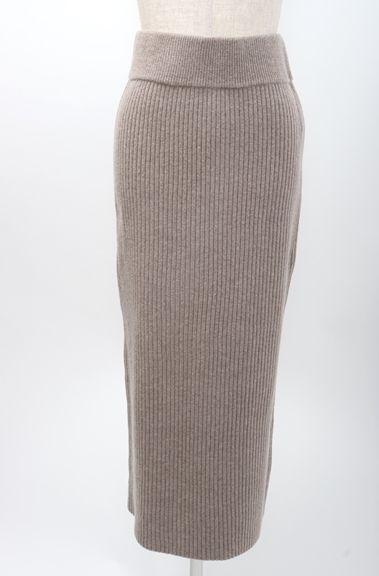 【10月6日に値下げ】L'Appartementアパルトモン 2018SS KNIT SKIRTニットスカート新品【LFWA46769】【ベージュ】【34】【未使用】【中古】【2点以上同時購入で送料無料】【DM180214】