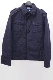 【2月1日に値下げ】BURBERRY BLUE LABELバーバリーブルーレーベル メンズ中綿ミリタリーシャツジャケット【MJKA46475】【濃紺】【M】【中古】【2点以上同時購入で送料無料】【DM180113】