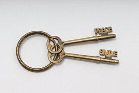 【8月29日に値下げ】ジャクソンマティスJACKSON MATISSE ダブル鍵キーリング新品【MZCA52877】【真鍮】【表記なし】【未使用】【2点以上同時購入で送料無料】【DM200415】