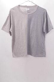 【6月8日に値下げ】GOOD OL'グッドオル バイカラーTシャツ【MTSA42280】【グレー】【2】【中古】【2点以上同時購入で送料無料】【DM170624】