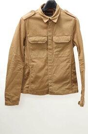 【11月9日に値下げ】EGO TRIPPINGエゴトリッピング ストレッチミリタリーシャツジャケット【MJKA38485】【ブラウンカーキ】【M】0【2点以上同時購入で送料無料】【DM161217】