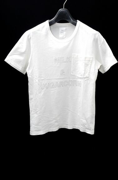【3月24日に値下げ】Name.ネーム(ネイム) ポケットTシャツ【MTSA35591】【白】【1】【中古】【2点以上同時購入で送料無料】【DM160716】