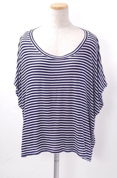 【9月2日に値下げ】RACHEL PALLY アパルトモンL'Appartement 購入2013SSボーダーTシャツ【LTSA40295】【白紺】【フリー】【中古】【2点以上同時購入で送料無料】【DM170318】