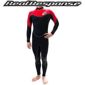 ウェットスーツ 3mm Real Response フルスーツ 起毛【ドレインMAX】1 防寒 オール3ミリ 日本製 フルオーダー可能  サーフィン スーツ SONIC リアルレスポンス ウエットスーツ サーフィン ボディボード メンズ レディース