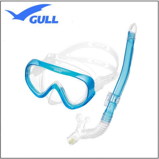 GULL(ガル) 軽器材2点セット ココマスク レイラドライSP スノーケル GM-1231 GM-1232 UVレンズ 紫外線対策 【送料無料】レディース セット ダイビング シュノーケリング 安心の日本製
