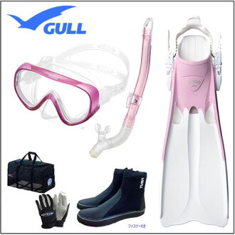 ■ Winter sale ■ reduced GULL ( Gull ) COCO Coco mask lailadrysnorkel COCO Coco fine & marine globe mesh bag & boots light equipment women's set of 6-Rakuten ranking popular products-