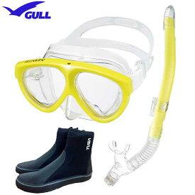 2019 GULL 軽器材3点セット マンティス5 マスク カナールドライ レイラドライSP スノーケル ブーツ DB3014 【送料無料】スキン ダイビング シュノーケリング マンティスセット マンティス5セット 水中ゴーグルセット