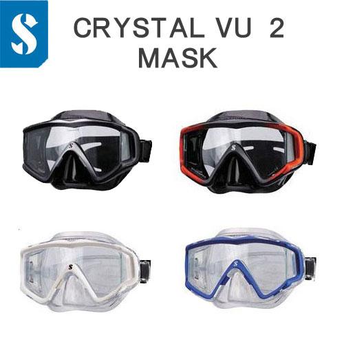 スキューバプロ(Sプロ) クリスタルビュー マスク ワイドな視界 1眼 ダイビングマスク CRYSTAL VU MASK ダイビング 軽器材 ●楽天ランキング人気商品●