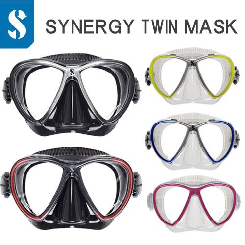 【あす楽対応】限定商品 スキューバプロ シナジーツインマスク Synergy Twin TRUFIT 2種類のシリコン採用 独自のハイブリッドマスク ダイビング 軽器材