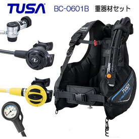 ◆ダイビング重器材 セット◆ 1番*BCD TUSA BC0601B *レギュ TUSA RS1103J *オクト *ゲージ TUSA  SCA-150 ダイビング 重器材 スキューバダイビング フルセット スイベルジョイントで 口へのフィット性向上 【送料無料】