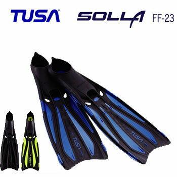 【あす楽対応】**特別価格65%OFF** TUSA FF-23 SOLLA ソラ フィン  超軽量フルフットフィン メーカー在庫確認します ●楽天ランキング人気商品● ダイビング 軽器材