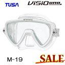 【あす楽対応】特別限定セール ホワイト色 TUSA ダイビング マスク M-19 ヴィジオ ウノ Visio uno  M19 (一眼…