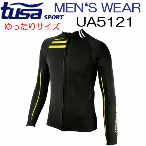 TUSA SPORT ツサスポーツ 【UA5121】メンズタッパー ■ゆったり■リサイズしました ウエット生地 長袖 保温効果 スノーケリング シュノーケリング 2mm ウエットスーツ 日焼け防止 ケガ予防 メーカー在庫確認します