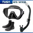 *TUSA* 軽器材3点セット マスク、スノーケル、ブーツM-19 マスク ヴィジオ ウノ Visio uno TUSA スノーケル ブーツ ダイビング 軽器材...